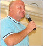 Bob Crow speaking at the National Shop Stewards Network lobby of the TUC