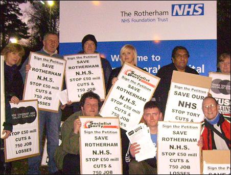 Rotherham TUSC NHS campaign continues