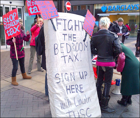 Lincoln TUSC bedroom tax council protest