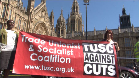 TUSC on 28 March 2012 NUT / UCU London demonstration
