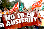 No to EU Austerity! RMT on anti-EU demo