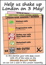 Latest London TUSC postcard
