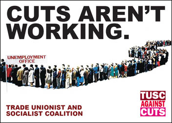 Cuts Aren't Working - leaflet produced by Sheffield TUSC