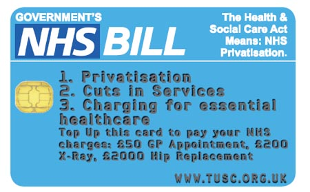 TUSC NHS Credit card