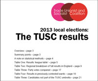TUSC Election Report 2013