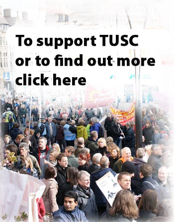 Support TUSC. Photo Jack Jones