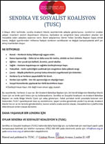 TUSC leaflet in Turkish
