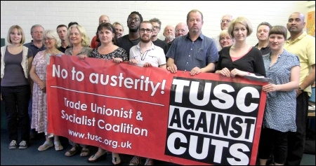 Prospective TUSC candidates in Waltham Forest, photo Senan