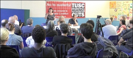 Waltham Forest TUSC Local elections 2014 press launch, photo Senan