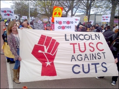 Lincolm TUSC Against Cuts, photo by Lincoln TUSC