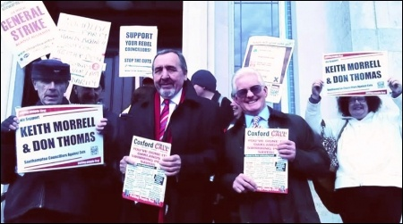 Southampton Councillors Against Cuts, Keith Morrell and Don Thomas, photo Southampton TUSC