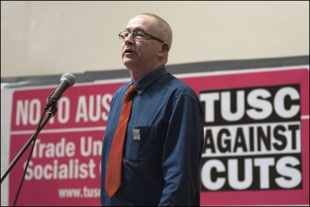 Mike Sargent, RMT executive committee, photo Paul Mattsson