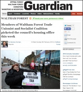 Waltham Forest Guardian 9/2/14, photo Waltham Forest Guardian