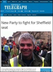 Sheffield Telegraph, 16/2/2014