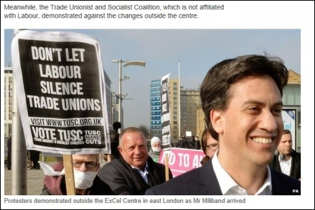 Coverage of TUSC at Labour Party special conference on BBC website: www.bbc.co.uk/news/uk-politics-26381922