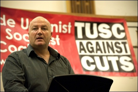 Bob Crow speaking at TUSC's 2012 London Assembly election campaign launch