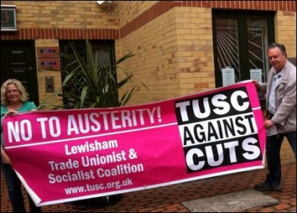 TUSC supporters lobby Care UK in West London