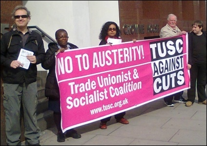 TUSC supporters lobby Care UK in South London