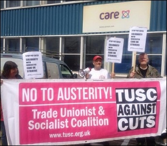 Southampton TUSC supporters lobby Care UK in support of workers in Doncaster