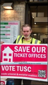 Len Rowlands, RMT picket, Whitechapel station