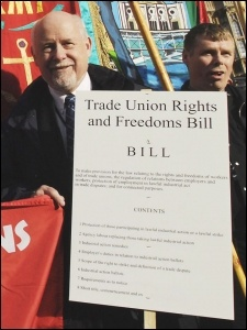 TUSC supports the Trade Union Rights and Freedom Bill