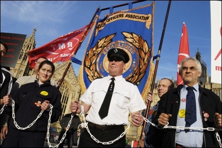 Trade unionists lobby parliament over anti-union laws