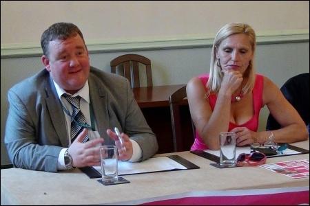Councillors Wayne Naylor and Barbara Potter