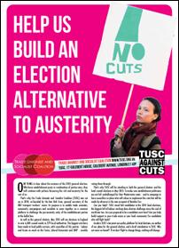 TUSC 2015 candidate appeal broadsheet