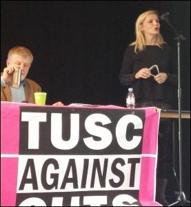 Leicester TUSC councillor Barbara Potter