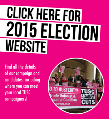 TUSC election campiagn website