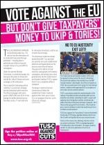 EU petition leaflet