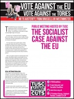 New TUSC leaflet for the 20-city tour