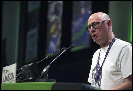 Roger Bannister at UNISON conference 2016